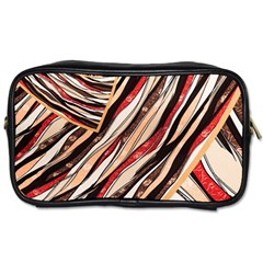 Fabric Texture Color Pattern Toiletries Bags 2 Side