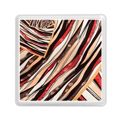 Fabric Texture Color Pattern Memory Card Reader (square)