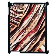 Fabric Texture Color Pattern Apple Ipad 2 Case (black)