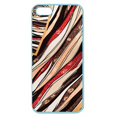 Fabric Texture Color Pattern Apple Seamless Iphone 5 Case (color)