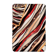 Fabric Texture Color Pattern Samsung Galaxy Tab 2 (10 1 ) P5100 Hardshell Case  by Nexatart