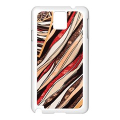Fabric Texture Color Pattern Samsung Galaxy Note 3 N9005 Case (white)