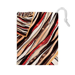 Fabric Texture Color Pattern Drawstring Pouches (large)
