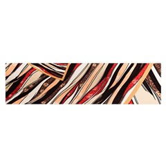 Fabric Texture Color Pattern Satin Scarf (oblong)