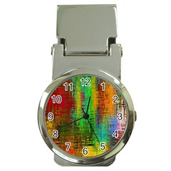 Color Abstract Background Textures Money Clip Watches