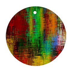 Color Abstract Background Textures Round Ornament (two Sides)