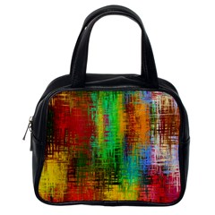 Color Abstract Background Textures Classic Handbags (one Side)