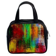 Color Abstract Background Textures Classic Handbags (2 Sides)