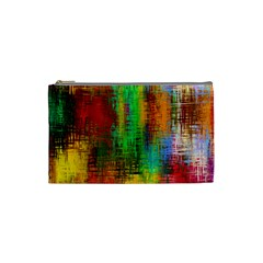 Color Abstract Background Textures Cosmetic Bag (small)