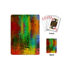 Color Abstract Background Textures Playing Cards (mini)
