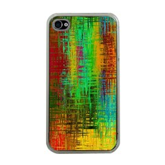 Color Abstract Background Textures Apple Iphone 4 Case (clear)