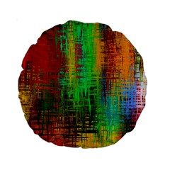 Color Abstract Background Textures Standard 15  Premium Round Cushions