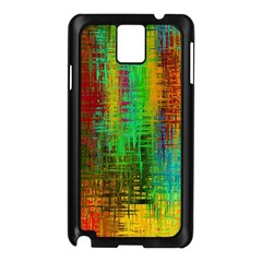 Color Abstract Background Textures Samsung Galaxy Note 3 N9005 Case (black)