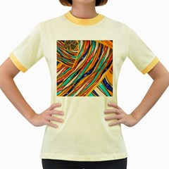 Fabric Texture Color Pattern Women s Fitted Ringer T Shirts