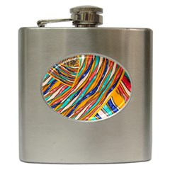 Fabric Texture Color Pattern Hip Flask (6 Oz)