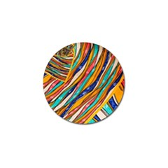 Fabric Texture Color Pattern Golf Ball Marker (10 Pack)