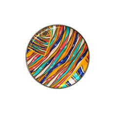 Fabric Texture Color Pattern Hat Clip Ball Marker (10 Pack)