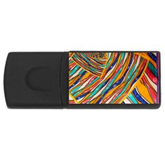 Fabric Texture Color Pattern Rectangular Usb Flash Drive
