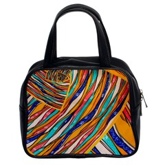 Fabric Texture Color Pattern Classic Handbags (2 Sides)