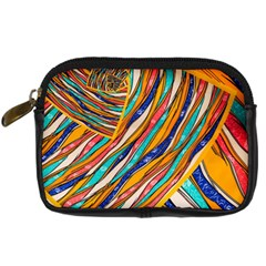 Fabric Texture Color Pattern Digital Camera Cases
