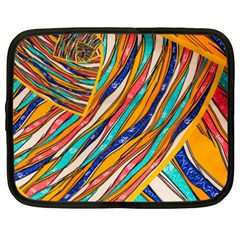 Fabric Texture Color Pattern Netbook Case (xxl)