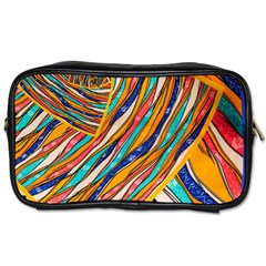 Fabric Texture Color Pattern Toiletries Bags