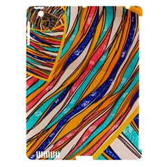 Fabric Texture Color Pattern Apple Ipad 3/4 Hardshell Case (compatible With Smart Cover)