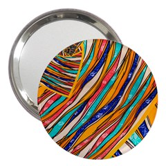 Fabric Texture Color Pattern 3  Handbag Mirrors