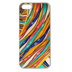 Fabric Texture Color Pattern Apple Seamless Iphone 5 Case (clear)