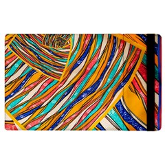 Fabric Texture Color Pattern Apple Ipad 3/4 Flip Case