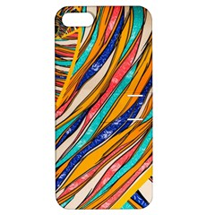 Fabric Texture Color Pattern Apple Iphone 5 Hardshell Case With Stand