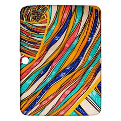 Fabric Texture Color Pattern Samsung Galaxy Tab 3 (10 1 ) P5200 Hardshell Case