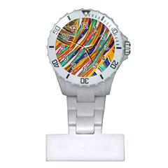 Fabric Texture Color Pattern Plastic Nurses Watch