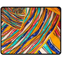 Fabric Texture Color Pattern Double Sided Fleece Blanket (medium)