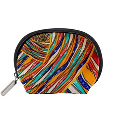 Fabric Texture Color Pattern Accessory Pouches (small)