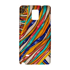 Fabric Texture Color Pattern Samsung Galaxy Note 4 Hardshell Case