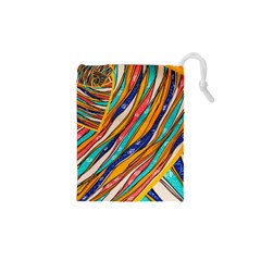 Fabric Texture Color Pattern Drawstring Pouches (xs)
