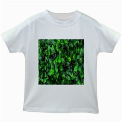 The Leaves Plants Hwalyeob Nature Kids White T Shirts