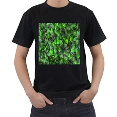 The Leaves Plants Hwalyeob Nature Men s T Shirt (black) (two Sided)