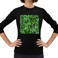 The Leaves Plants Hwalyeob Nature Women s Long Sleeve Dark T Shirts