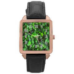 The Leaves Plants Hwalyeob Nature Rose Gold Leather Watch