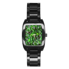 The Leaves Plants Hwalyeob Nature Stainless Steel Barrel Watch