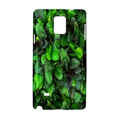 The Leaves Plants Hwalyeob Nature Samsung Galaxy Note 4 Hardshell Case by Nexatart