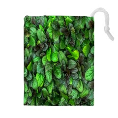 The Leaves Plants Hwalyeob Nature Drawstring Pouches (extra Large)