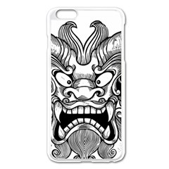 Japanese Onigawara Mask Devil Ghost Face Apple Iphone 6 Plus/6s Plus Enamel White Case by Alisyart
