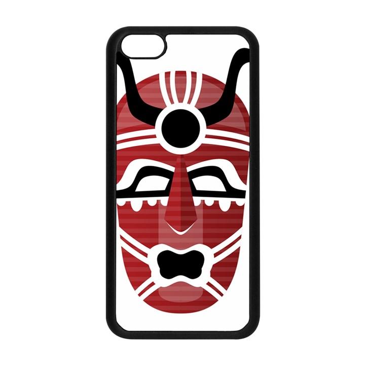 Africa Mask Face Hunter Jungle Devil Apple iPhone 5C Seamless Case (Black)