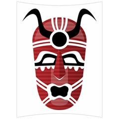 Africa Mask Face Hunter Jungle Devil Back Support Cushion by Alisyart