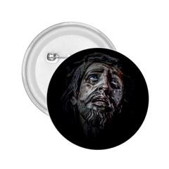 Jesuschrist Face Dark Poster 2 25  Buttons by dflcprints