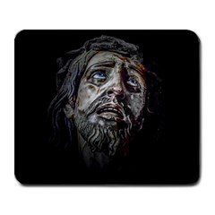 Jesuschrist Face Dark Poster Large Mousepads by dflcprints