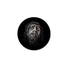 Jesuschrist Face Dark Poster Golf Ball Marker (4 Pack) by dflcprints